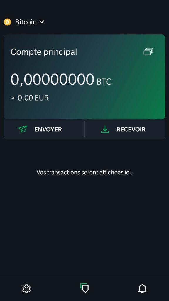 recevoir des Bitcoin