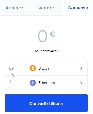 Convertir des cryptos sur Coinbase