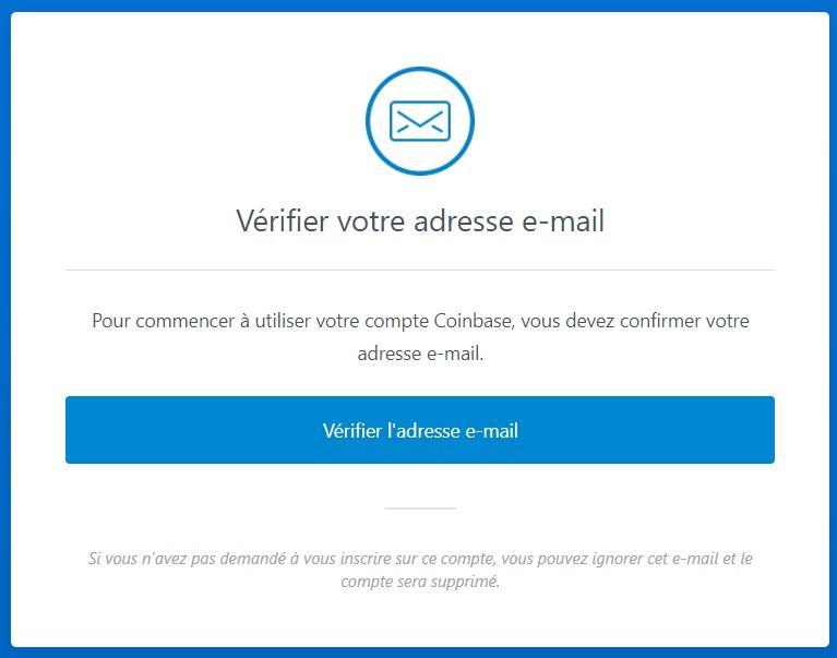 Vérification email