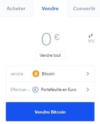 Vendre des cryptos sur Coinbase