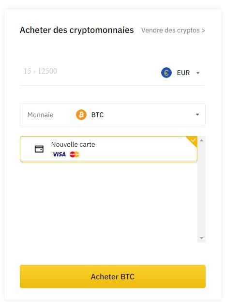 Acheter des cryptos sur Binance