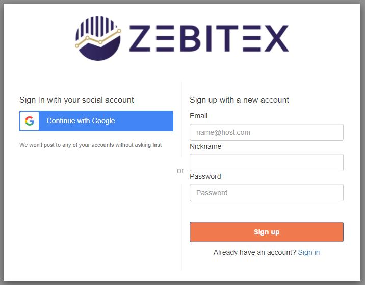 Formulaire inscription Zebitex